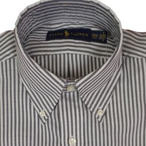 Polo Ralph Lauren Dress Shirt Grey White